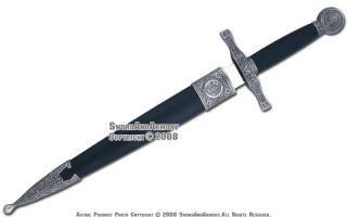 Medieval Excalibur Short Sword Templar Knight Dagger