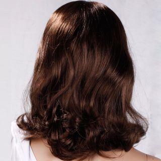 New Fashion Cosplay Neat Bang Medium Wig Curly Hair Kanekalon 18 90