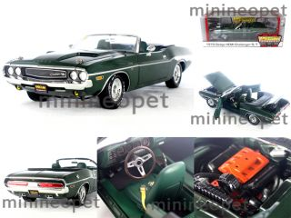 12841 1970 DODGE CHALLENGER HEMI CONVERTIBLE MECUM AUCTIONS 1/18 GREEN