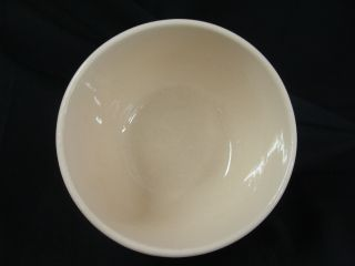 McCoy Pottery Lancaster Colony Mark White Stoneware Bowl Brown Stripe