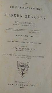 Antique Leather Pre Civil War Medical Book Surgery Medicine Surgeon