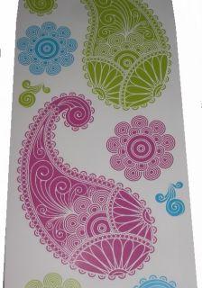 New Pretty Asian Paisley Henna Design Wall Stickers