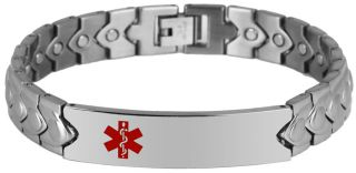 inch Stainless Steel Engravable Medical Alert ID Bracelet