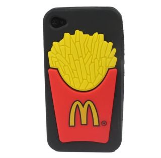 McDonald Soft Rubber Silicone Back Case Cover Skin for Apple iPhone 4S