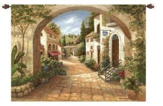 Ciottoli Villagio Wall Tapestry Large Woven Italian Art