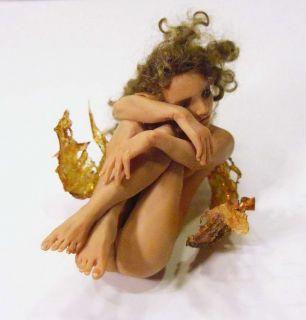 OOAK Fairy Art Nude Doll Sculpture Melissa Drapeau