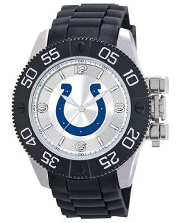 Game Time Watch, Mens Indianapolis Colts Black Polyurethane Strap