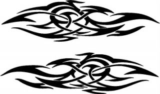 Vehicle Tribal Flames Decal Vinyl Sticker Car Graphics