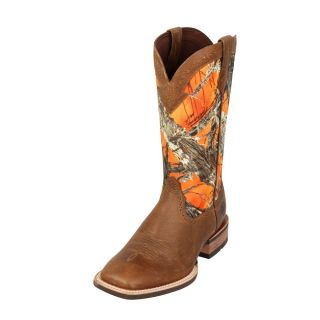 Ariat Western Boots Mens Quickdraw Cowboy Boots Mens Tumbled Brown