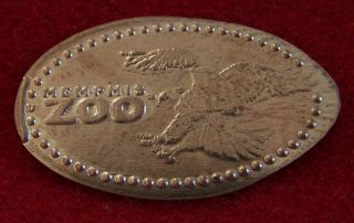 Memphis Zoo Bald Eagle Elongated Copper Penny