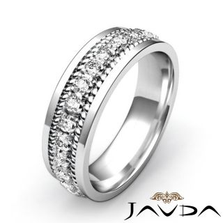 Diamond Mens Eternity Wedding Band 14k Gold White Solid 8 5mm Ring