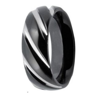 Texture Stainless Steel 8mm Mens Wedding Bands Rings Size 10