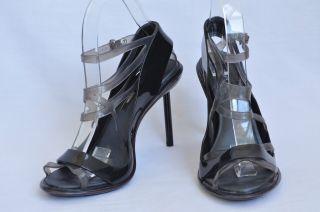 Melissa Jean Paul Gaultier Womens Grey Rubber Open Toe High Heel Pump
