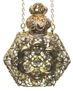 Czech Perfume Oil Holy Water Bottle Pendant Necklace