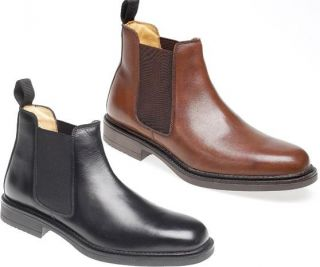Mens Chelsea Boots Black Brown Size 6 7 8 9 10 11 12