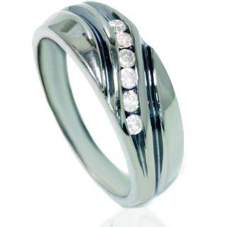 Set Mens Diamond Wedding Ring 14k Black Gold Bridal Band 7 12
