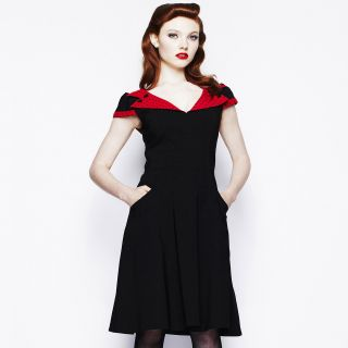 Hell Bunny Evie Dress 50s 60s Rockabilly Mad Men Retro Pin Up Polka