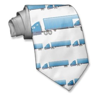 Semi Truck Trailer Blue Tie