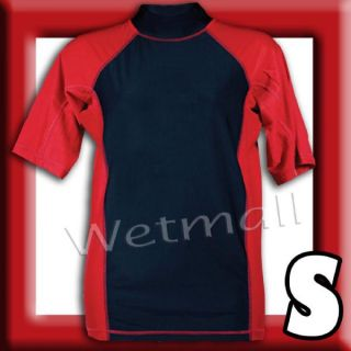 Mens Rash Guard New UV Swim Surf Shirt XSRGL Small SPF 50 Swimwear Red
