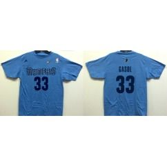 Memphis Grizzlies Marc Gasol Light Blue Name and Number Jersey T Shirt