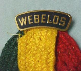 Vintage Boy Scout Webelos Brass Pin Merit Badge Holder