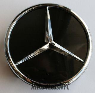 Mercedes Benz Black Wheel Cener Caps SL550 SL55 SL63