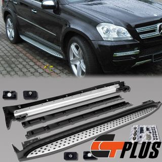 BRAND NEW PAIR OF ALUMINUM RUNNING BOARDS FOR MERCEDES BENZ GL CLASS
