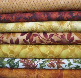 Moda Fall Medley Orange Yellow Fat Quarter Set Quilt Fabric Orange