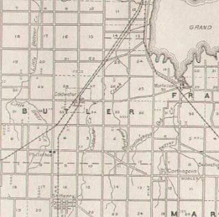 Mercer County Ohio Authentic Antique Highway Map Celina 102 Years Old