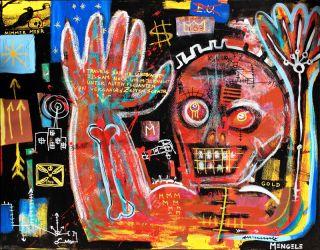 Contemporary Art Brut Christian Mengele Painting   Edgar Allan Poes