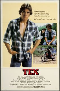 Tex 1982 Original U s One Sheet Movie Poster