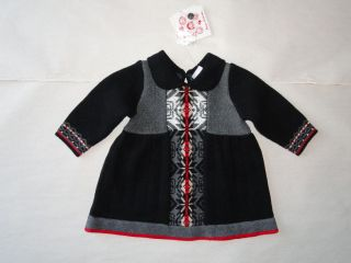 56 HANNA ANDERSSON GIRLS SIZE 60 MERRY TIL MIDNIGHT KNIT DRESS NICE