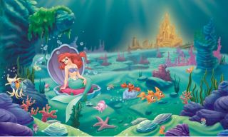 nEw DISNEY LITTLE MERMAID Prepasted WALL ART MURAL   Ariel Princess