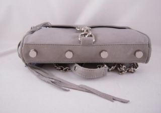 Rebecca Minkoff Mini Mac Clutch in Soft Grey with Silver Hardware