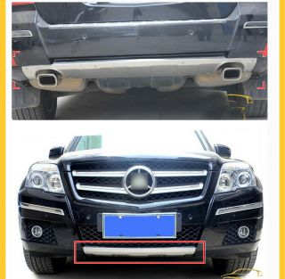 2008+ Mercedes Benz GLK 350/300 Front &Rear Brushed Bumper Protector