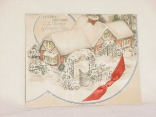 Christmas Card for Mother 1937 Unused Beautiful