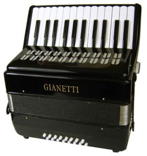 Student Black Piano Accordion w Case Strap 16 Bass
