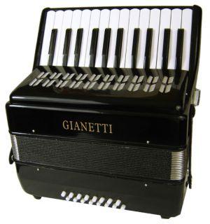 Student Black Piano Accordion w Case Strap 16 Bass