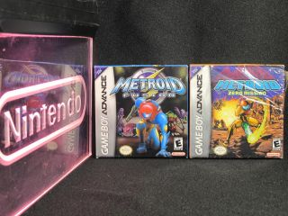 Nintendo Game Boy Advance Metroid Fusion / Zero Mission CIB Complete