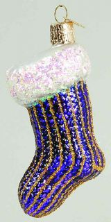 Merck Familys Xmas Ornament Purple Stocking 7135550