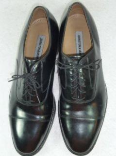 Mens Johnston Murphy Melton Captoe Black Shoes 10 5 D