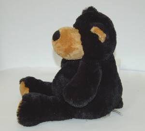 Mary Meyer Black Tan Overstuffed Plush 14 inch Bear Age 3 Plus