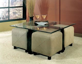 Metal Glass Square Occasional Coffee Table Free s H