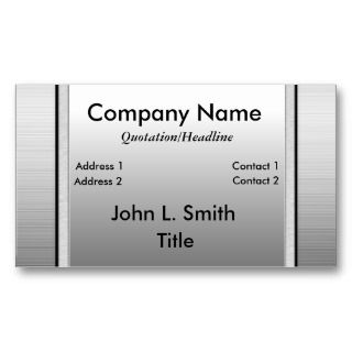 Metal Nameplate Business Cards