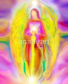 ARCHANGEL MICHAEL Spiritual Angel Art Painting on CANVAS by Glenyss