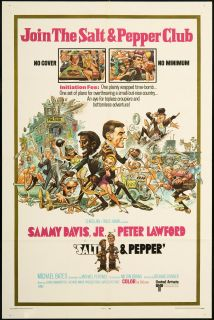 Salt Pepper 1968 Original U s One Sheet Movie Poster