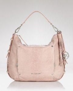 Michael Kors Bowen Blush Pink Large Hobo Handbag Purse
