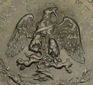 MEXICO 1 RARE 1944 BIG SILVER UN PESO COIN   MEXICAN EAGLE   MEXICANO