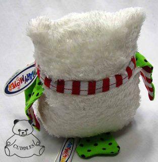 Yuletide Owl White Bird Mary Meyer Plush Toy Stuffed Animal Christmas