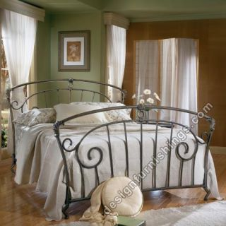 Ashley Bellissimo Queen Full Metal Bed Pewter B134